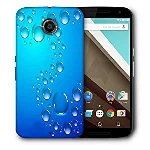 Snoogg Abstract Water Drops Background And Space For Your Text Designer Protective Back Case Cover For Motorola Nexus 6