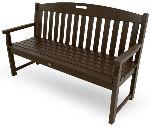 Trex Outdoor Furniture TXB60VL 60-Inch Yacht Club Bench, Vintage Lantern