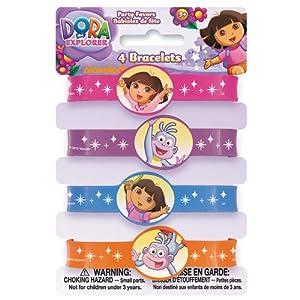 Dora The Explorer Wrist Bands Favors, 4ct