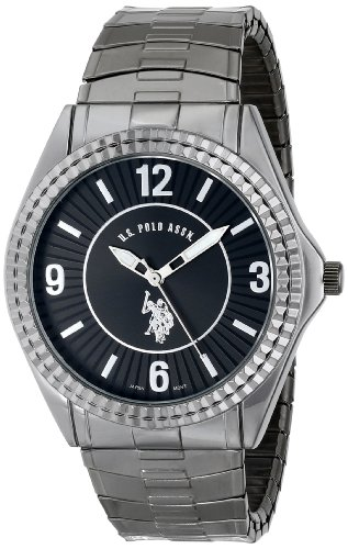 U.S. Polo Assn. Classic Men'S Usc80028 Gun-Metal Analogue Black Dial Expansion Watch