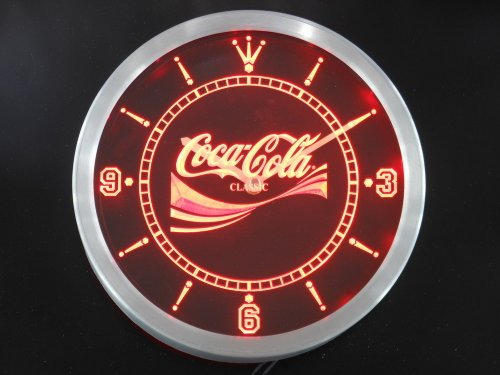 LED Neon Light Wall Clock COCA COLA #1 BEER Bar Cafe Pub Restaurant