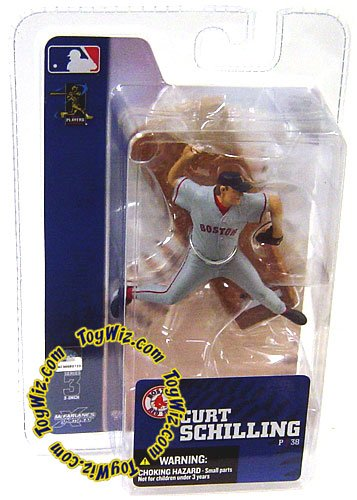 McFarlane Toys MLB 3 Inch Sports Picks Series 3 Mini Figure Curt Schilling (Boston Red Sox) - 1