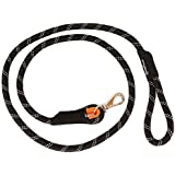 ZippyPaws Climbers Mountain Climbing Rope Dog Leash (Black, 6-Feet)
