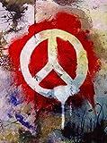 Canvas Champ Peace Graffiti (Medium) Poster