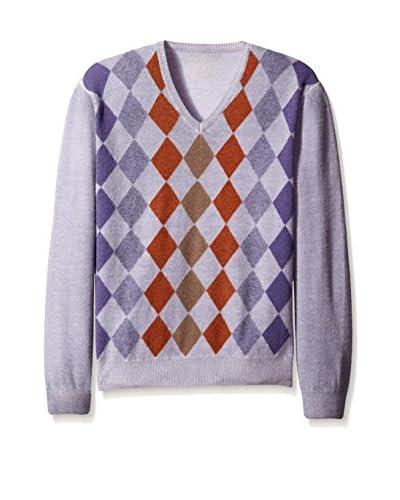 Scott Barber Men's Argyle V-Neck Sweater