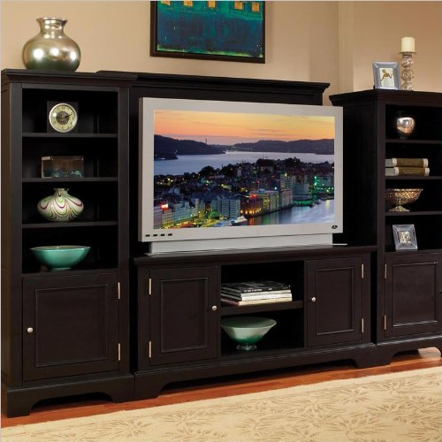 Home Styles Furniture Bedford Audio Rack and Flat Panel/Plasma/LCD TV Stand Set in Ebony Finish