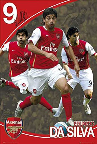 Poster calcio Arsenal, Eduardo da Silva + accessori