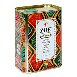 Zoe Organic Extra Virgin Olive Oil, 25.5-Ounce Tins (Pack of 2)