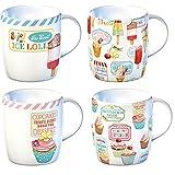 Creative Tops Retro Treats Porcelain Mugs Set of 4