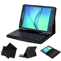 Samsung Galaxy Tab A 9.7 Keyboard case, SUPERNIGHT Ultra-Thin High Quality Bluetooth DETACHABLE Keyboard Portfolio Case Stand for Samsung Galaxy Tab A 9.7-inch SM-T550NZWAXAR Tablet (Black)