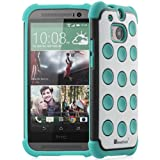 GreatShield DOMINO Polka-Dot Dual Layer Hybrid Case for HTC One (M8) 2014 - Retail Packaging (White / Black /... by GreatShield