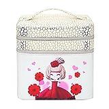 Nckoo 多層収納箱 大容量化粧箱 防水化粧バッグ (白)