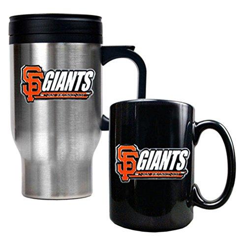 Nfl New York Giants Travel Mug & Ceramic Mug Set