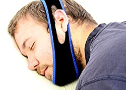 Snore Less- Anti snoring Chin strap- Adjustable Sleep Mask- Snore Reduction Technology- Double Chin Reducer.