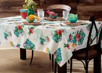 The Pioneer Woman Tablecloth Check Floral Kitchen Linens (60x84 Tablecloth, Country Garden Floral) (Vintage Floral Tablecloth compare prices)