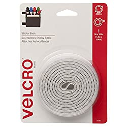 Velcro(R) Brand Sticky Back(R) Fasteners, 3/4In. X 5Ft., White