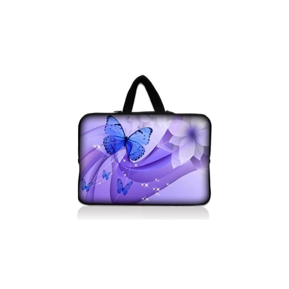 """Brand new Dancing Butterfly 9.7"""" 10"""" 10.1"""" 10.2"""" inch Neoprene Laptop Netbook Tablet Case Neoprene Sleeve Carrying bag with Hide Handle For iPad 2 3/Asus EeePC 10 transformer/Acer Aspire one/Dell inspiron mini/Samsung N145/Toshiba/Kindl"""