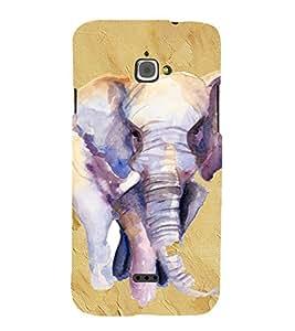 PrintVisa Elephant Art Design 3D Hard Polycarbonate Designer Back Case Cover for Infocus M350