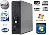 Dell OptiPlex 745 Wi-Fi Enabled Powerful Multi-tasking Desktop PC - Intel Core 2 Duo Processor E6600 2.4GHz - 80GB Hard Drive - 2GB Memory - DVD-RW - Windows XP Professional (Compatible with Windows 7 & 8)