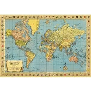 Cavallini Decorative Paper- World Map No. 2