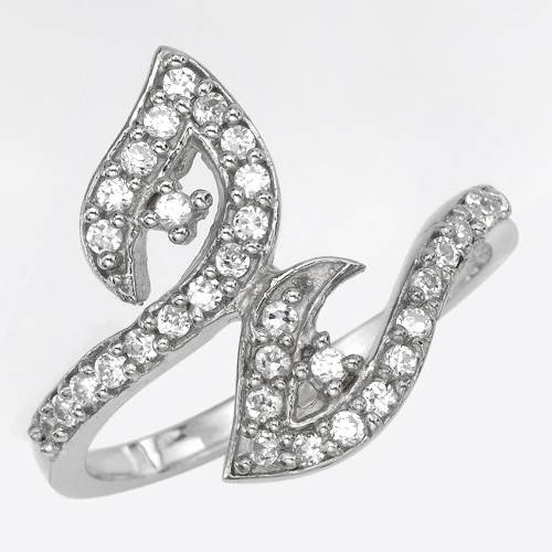 Ring With 1.00ctw Cubic zirconia 925 Sterling silver (Size 7)