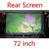72-300 Projector Screen 16 9 4 3 Projector HD Screen Portable Rear Projection Screen PVC Material 150 Inch 16... - B01J1G2696