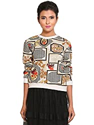 Fashion Fiesta Women's Casual Top (TOPLAM0017OFF04-M_Off-White_Medium)
