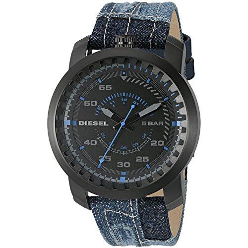 Diesel Advanced - Reloj con banda de metal para hombre, color azul / gris