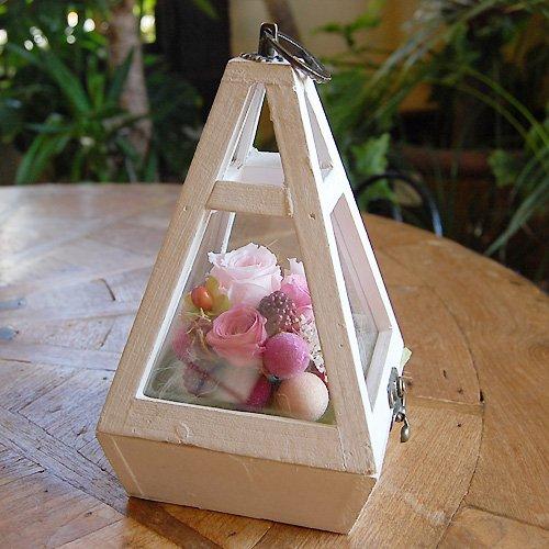 プリザーブドフラワー テラリウム (ピンク)  テラリウム・ピンク  【枯れないお花 ギフト パラボッセ】