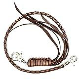 ジナブリング (JINA BRING) ウォレットチェーン USAから直輸入 財布のカスタムに 牛革編み込み ブラウン ロングタイプ
