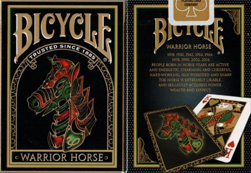 2 Decks Warrior Horse Bicycle Playing Cards