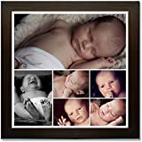 Clixicle **Free Customization** Photo Collage Poster With Brown Frame For Friends, Family, Father, Mother, Valentine... - B01BHOBD94