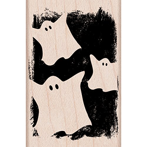 "Hero Arts Ghostly Pattern Mounted Rubber Stamp, 2"" by 2"" - 1"