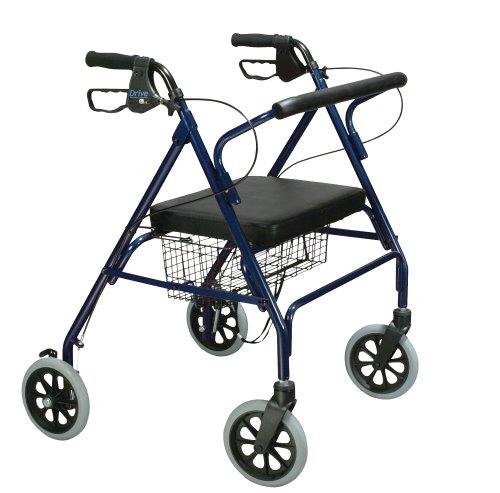 Drive Medical 10215BL-1 Go-Lite Rollator Oversize, Blue