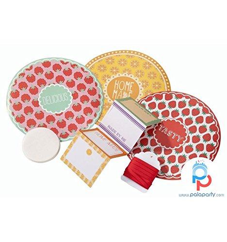 Kit d'étiquettes pour pots de confiture Motif Cottage Garden-Faites vos confitures chutneys & look Parfait