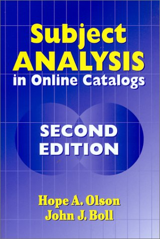 Subject Analysis in Online Catalogs: