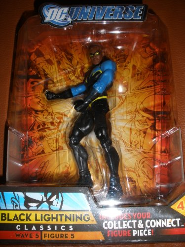 Buy Low Price Mattel DC Universe Classics Series 5 Exclusive Action Figure Black Lightning Build Metallo Piece! (B001M7Z8B6)