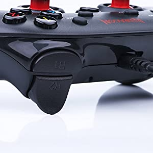 USB Wired Gamepad for PC Game Controller for PC Gaming Windows PS3, Playstation, Android, Xbox 360 Games on PC, G807 Saturn by Redragon (Color: Black-Wired)