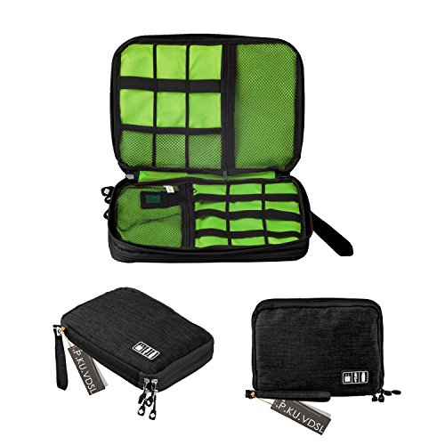 pkuvdsl-universal-electronics-accessories-organizer-double-layer-versatile-travel-gear-organizer-cas