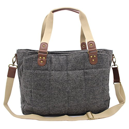 Damero Soft Diaper Tote Bag, Gray