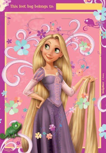 Tangled Rapunzel Folded Loot Bags Disney Princess Birthday Party Favor Treat (8)