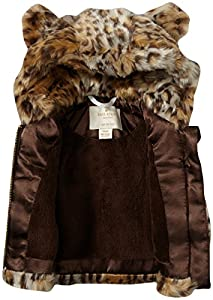 kate spade york Baby Girls' Faux Fur Hooded Vest (Baby)