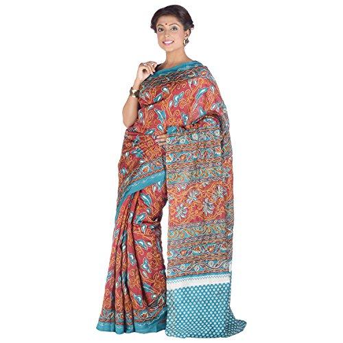 Elife Elife Multi-Colored Cotton Silk Saree For Women (Multicolor)