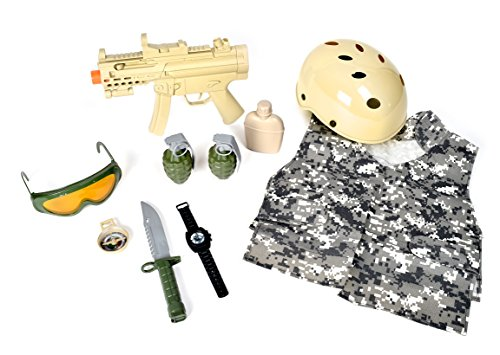 Maxx Action Special Forces Deluxe Costume Dress-Up Play Set (10-Piece)