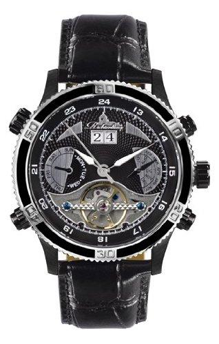 Richtenburg Montre Homme Kaiman noire IP cuir R11800