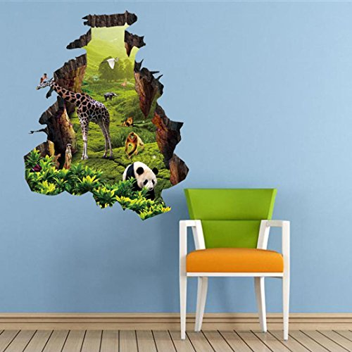 3D Wall Stickers, Franterd Creative Zoo Wall Art Sticker Decal Home Kid Living Room Decor (Decal Numbers Kids compare prices)
