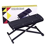 GLEAM Guitar Footrest, Footstool, Guitar Support, Guitar Accessory. For Classical, Flamenco, Acoustic or Electric Players. (Black)