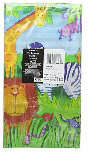 Amscan Jungle Animals Paper Table Cover