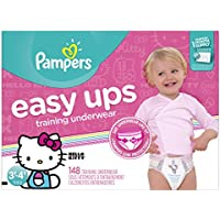 Pampers Easy Ups Training 3T-4T (Size 5) Girls Underwear (148 Count)