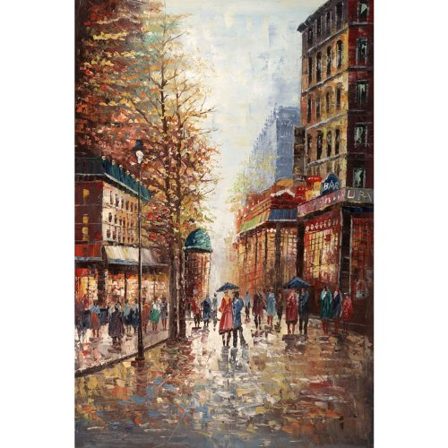 French Street Scene by Joval - Extra Large Artwork